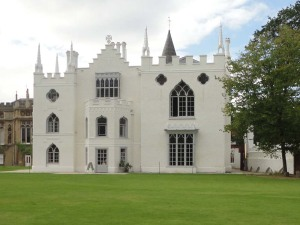 Side view of Strawberry Hill House