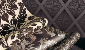 Damask and flock wallpapers