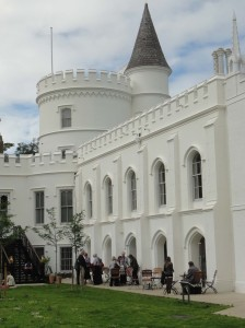 View along the Gallery side of Strawberry Hill House