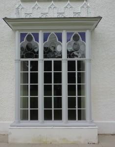 Ground floor stained glass window