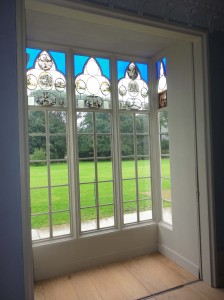 Interior of a ground floor window