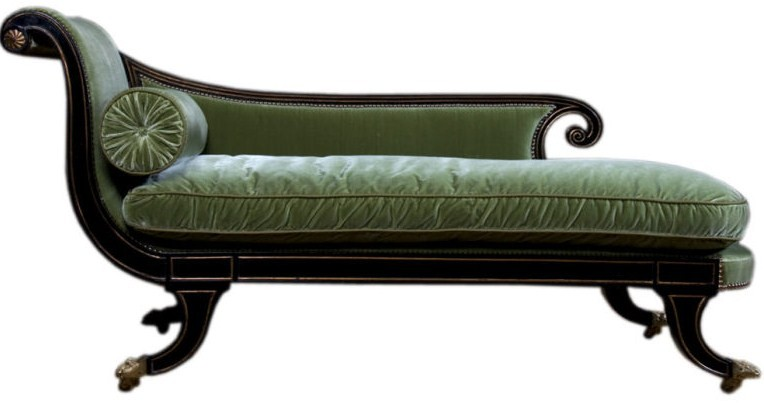 Spotting a regency piece of furniture to work within your for Chaise longue lounge