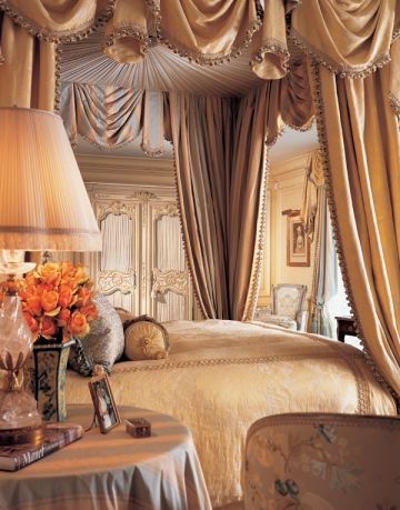 Pleated bed drapes