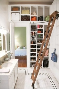Using bathroom space as a dressing room