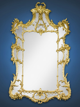 Georgian Chippendale Giltwood Mirror