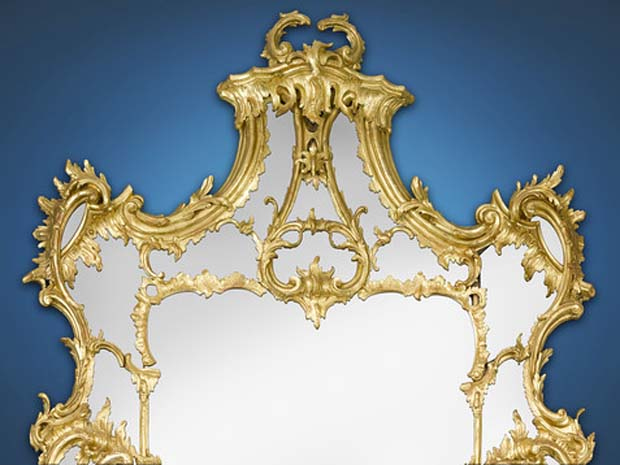 Chippendale Original Georgian Mirror