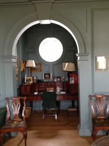An alcove in the gallery which neatly fits previously owned antiques