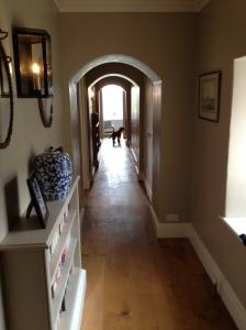 Upstairs corridor achieves a similar rhythm