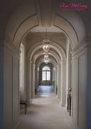 Arched hallway with limestone floor has a wonderful rhythm