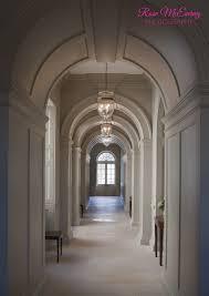 Arched hallway with limestone floor has a wonderful rhythm