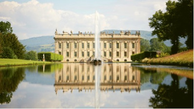 The stunning facade at ChatsworthHouse