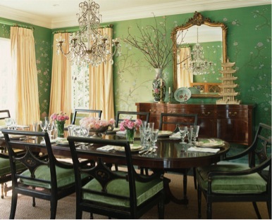 My favourite Regency colour - Emerald Green